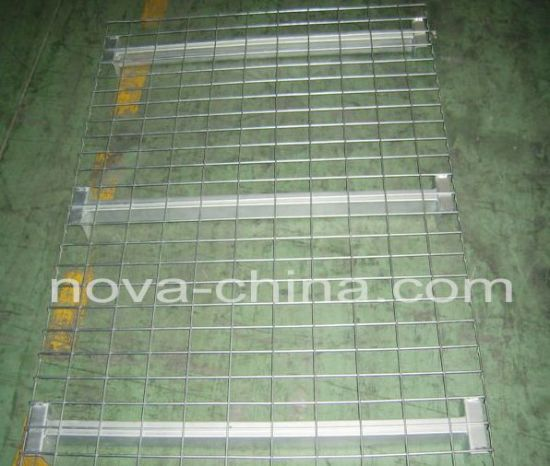 Inverted F Support Wire Mesh Decking untuk Pallet Rack